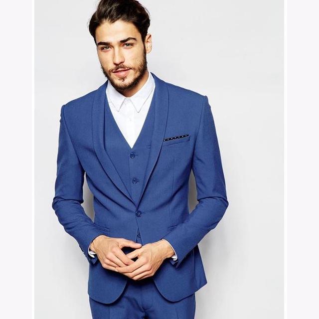 nouveau costume homme mariage royal bleu hommes costume mari smoking 2017 slim fit gar ons d. Black Bedroom Furniture Sets. Home Design Ideas