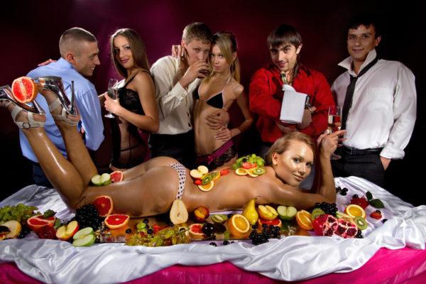 sexy dîner enterrement de vie de garçon à Londres